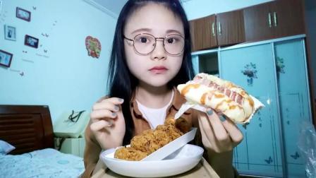 #吃秀#海苔肉松小贝+芝士火腿面包+土司边蘸酸奶#热门#纠结