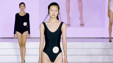模特大赛泳装秀 个个都是未来之星