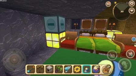 迷你世界水帘洞生存屋模拟 很是好看