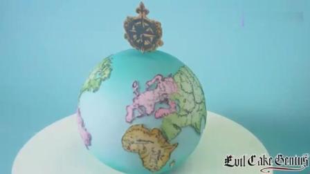"""牛人制作的""""地球仪""""蛋糕, 好逼真啊, 这创意超赞!"""