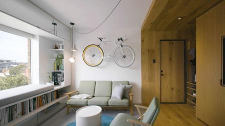 仅仅35平米的小屋被华裔设计师改造成功能齐全的前卫居室