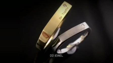 【DD珠宝】超个性18k黄金&白金定制, 轻奢对戒~