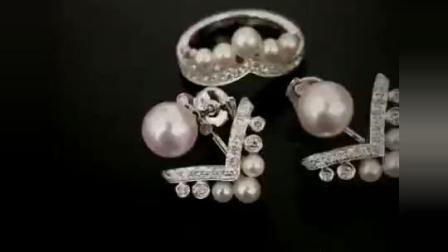 【DD珠宝】珍珠首饰套装, 珍珠戒指&珍珠耳环~