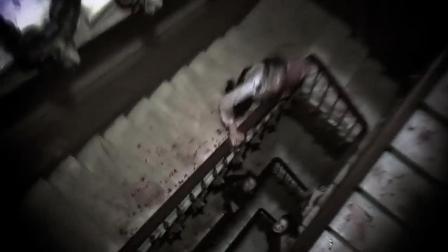 美女找到钥匙出来, 看见外面的同伴也被咬了, 变成了丧尸向他们冲来