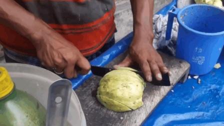 一点胃口都没有! 印度街头水果摊, 看完你敢不敢吃?