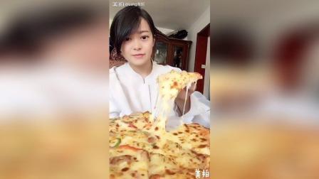 订了一个榴莲和鸡肉双拼披萨