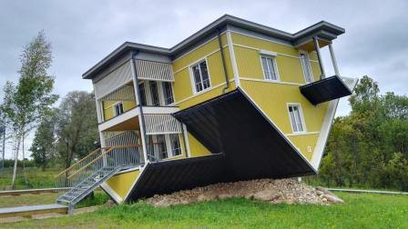 世界上最奇葩的3座建筑, 颠倒屋感觉像时空错乱! ?