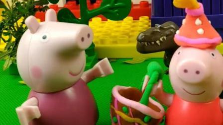 小红帽给奶奶送蛋糕, 被恐龙尾随跟着了, 恐龙想干什么?