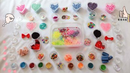 55种亮片, 闪粉和泡沫球, 混合无硼砂的透泰, 结果会怎样?