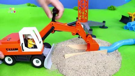 儿童趣味挖掘机、小卡车、小铲车玩具拉沙子