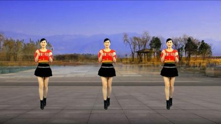 广场舞《又见山里红》纯音乐, 旋律醉人舞步简单, 附口令分解!