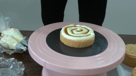 业余吃货闲来无事, 做个4寸百香果酱夹心的葡萄奶油裸蛋糕来吃