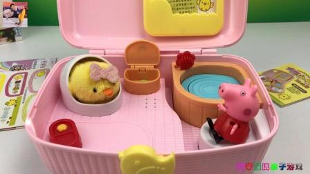 宣宇爱玩小猪佩奇玩具 第一季 小猪佩奇玩小鸡养成屋过家家亲子玩具