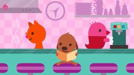 小鸟小狗小猫三伙伴看书学颜色数字形状拼图吃到水果蛋糕卡通动画