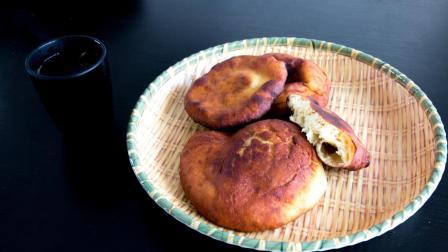 红薯饼 一个红薯一斤面粉, 上锅炸一炸隔壁小孩都馋哭了!