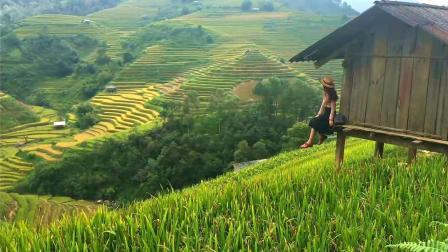 中国人去越南, 实拍越南大山的贫困农村风光, 跟贵州山区相似!