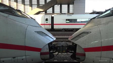 铁路运输4K 感受300公里时速的德国ICE高速列车 法兰克福-科隆