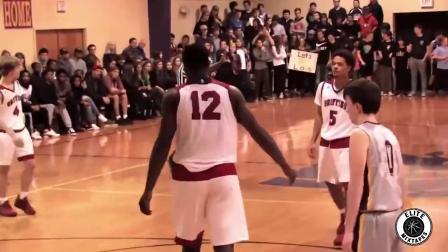 美国高中篮球16岁怪物高中生_平视篮框360度灌篮