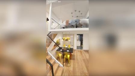 Loft公寓, 小空间还能拥有两个房间。