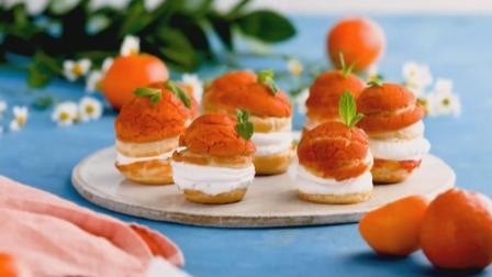 学做甜点, 好吃不腻的橘子泡芙蛋糕