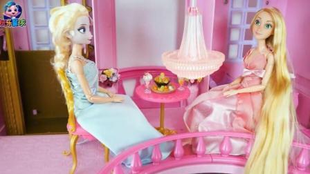 芭比的故事 芭比住进粉色别墅公主最喜欢闪闪发光梳妆台