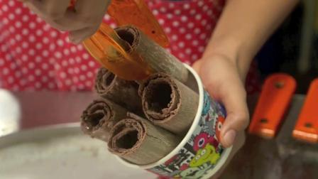 泰国炒雪糕, 巧克力OREO冰淇淋卷, 冰淇淋与巧克力的甜蜜邂逅