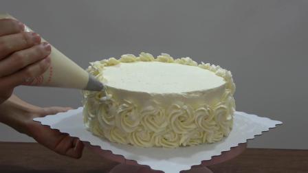 3分钟看8寸大蛋糕诞生全过程! 业余吃货制作, 自己做自己吃也不错