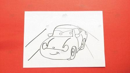 卡通简笔画教程_汽车总动员城市飞车