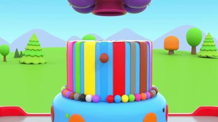 萝卜玩具宝宝 制作彩色多层星星蛋糕