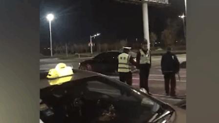 路口跑出一只梅花鹿 遭小车撞击倒地不起