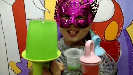 """妹子吃冰""""水桶彩冰"""", 冰桶挑战开始了, 快来看看小姐姐如何吃"""