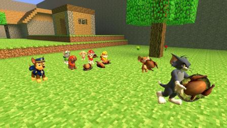 GMOD: 汤姆猫和杰瑞鼠怎么把汪汪队阿奇的烧鸡抢走了?