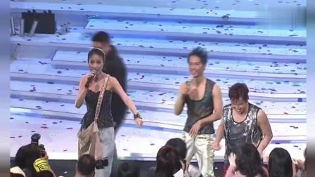 陈慧琳演唱会, 挂着书包来竟然是为了让谭咏麟和李克勤帮她收红包的