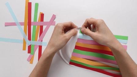 一次性纸盘巧利用: 给宝宝做个彩虹云朵手工, 幼儿园老师也称赞