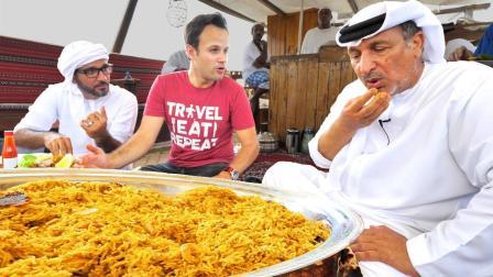 吃货老外在迪拜最高建筑旁吃最壕的海鲜盛宴, 爽!