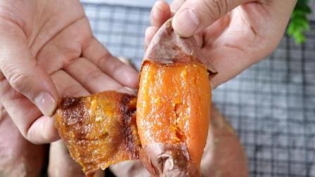 想吃烤红薯不用买! 教你烤红薯小诀窍, 这样烤的红薯流糖汁