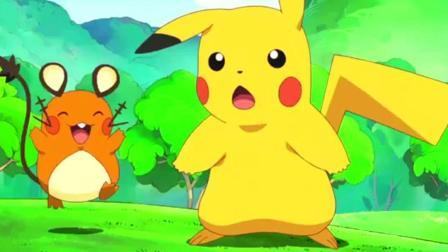 神奇宝贝: 宠物小精灵大聚会, 皮卡丘被喵喵惹怒, 发出十万伏特电它!
