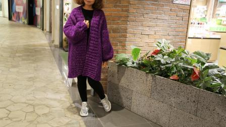 小辛娜娜编织2018第83集韩版开衫毛衣编织教程编织教程与图解