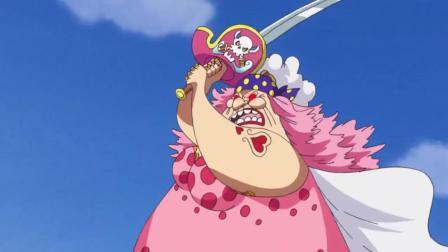海贼王: 陷入疯狂的大妈一击也能把路飞给打趴下?