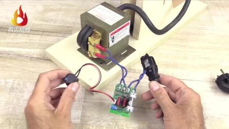 微波炉拆下来的这个零件别扔, 牛人帮你用来做台点焊机, 超强大
