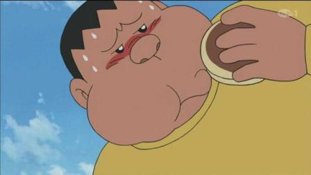 哆啦A梦: 大胃王对决! 胖虎被撑的不省人事