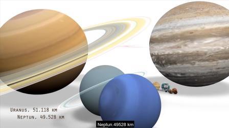 史上最全宇宙各星球大小, 地球太渺小! 土星直径这么大