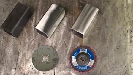 钢管镜面抛光, 看看用不同的角磨机, 抛出来的光面一样吗?