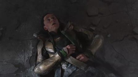 绿巨人有多强? 看被秒杀后的洛基, 面无表情, 呼吸困难的结果就知道