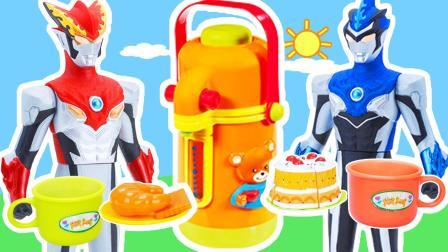 罗布奥特曼购买熊熊下午茶点心茶壶套装玩具