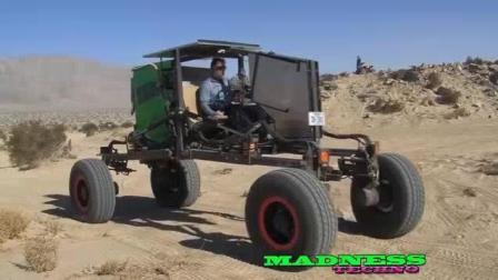 Т国内的徐工做的蜘蛛侠挖掘机出口到国外没改成全地形越野车