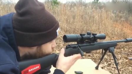 武器装备小口径狙击步枪, 可发射手枪子弹, 安装消音实弹射击