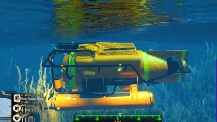 GTA5 蜘蛛侠开肌肉车来到潜水艇, 打算打捞海洋废料