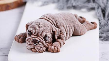 那么可爱的狗狗你舍得吃吗? 网红沙皮狗慕斯蛋糕制作方法