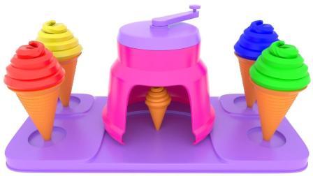 冰淇淋机制作美味冰淇淋玩具